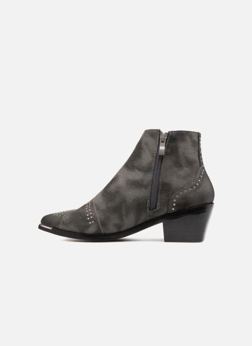 Boots en enkellaarsjes Pieces PENNIE BOOT RAVEN Grijs voorkant