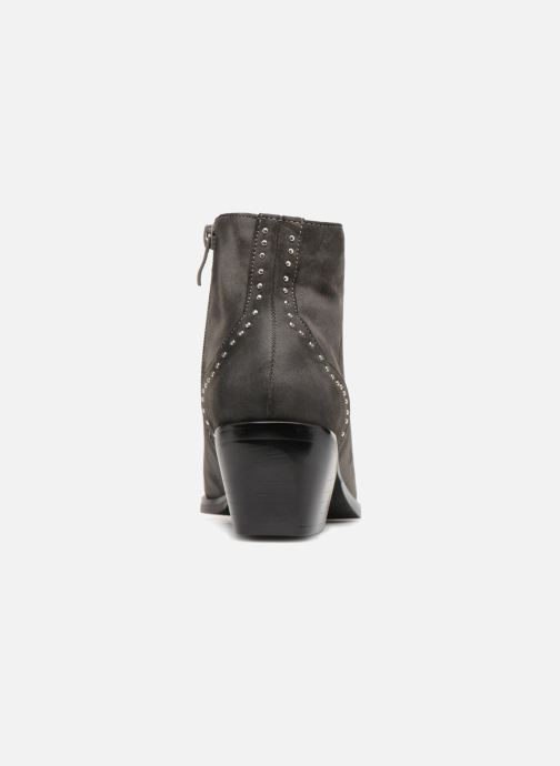 Ankle boots Pieces PENNIE BOOT RAVEN Grey view from the right
