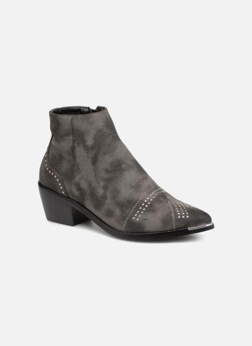 Bottines et boots Pieces PENNIE BOOT RAVEN Gris vue détail/paire