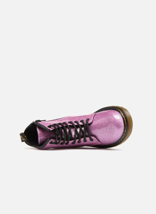 Ankle boots DR. Martens 1460 Glitter J Purple view from the left