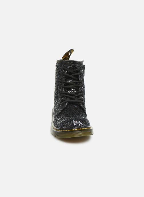 Bottines et boots Dr. Martens 1460 Glitter J Noir vue portées chaussures