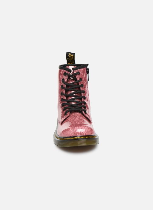 Bottines et boots Dr. Martens 1460 Glitter J Rose vue portées chaussures