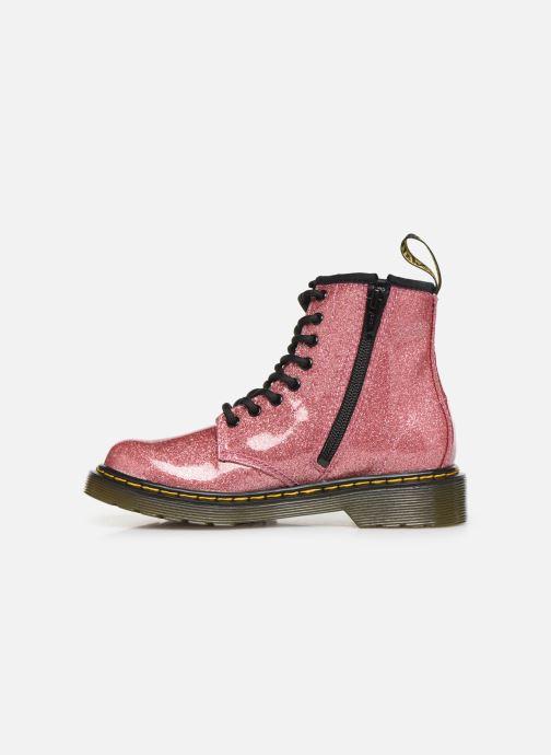 Stiefeletten & Boots Dr. Martens 1460 Glitter J rosa ansicht von vorne