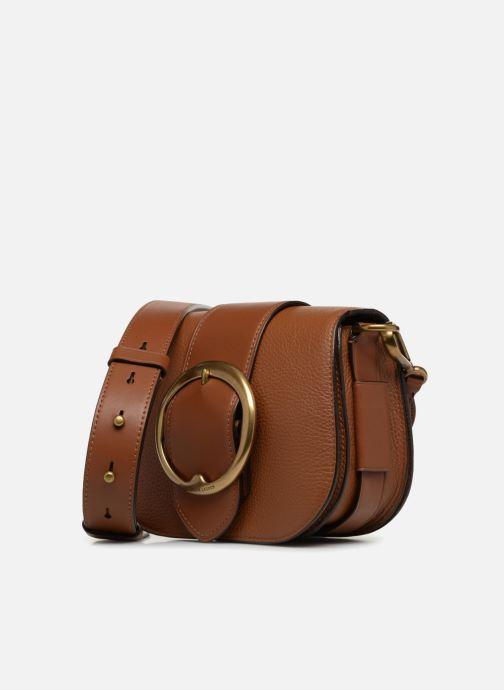Handbags Polo Ralph Lauren LENNOX BELT SADDLE Brown model view