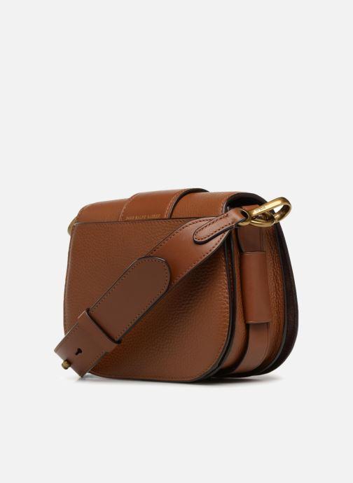 Handtassen Polo Ralph Lauren LENNOX BELT SADDLE Bruin rechts
