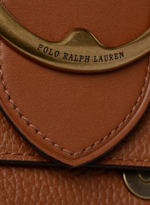 Sacs à main Polo Ralph Lauren LENNOX BELT SADDLE Marron vue gauche