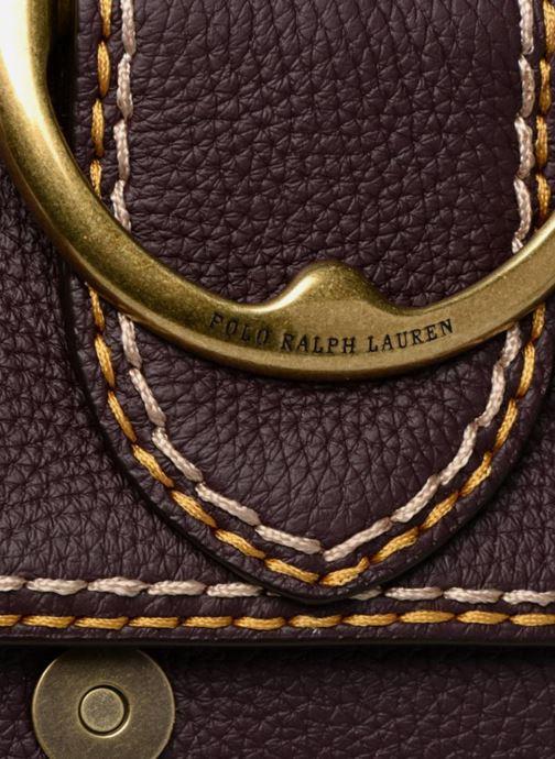 Sacs à main Polo Ralph Lauren LENNOX BELT SADDLE Bordeaux vue gauche