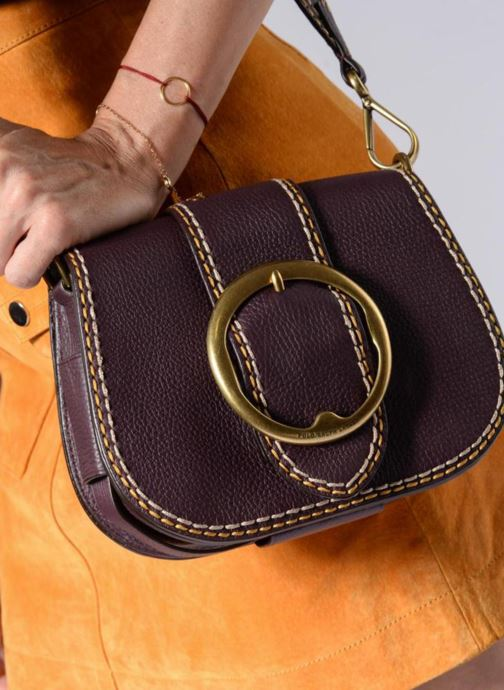 Sacs à main Polo Ralph Lauren LENNOX BELT SADDLE Marron vue bas / vue portée sac
