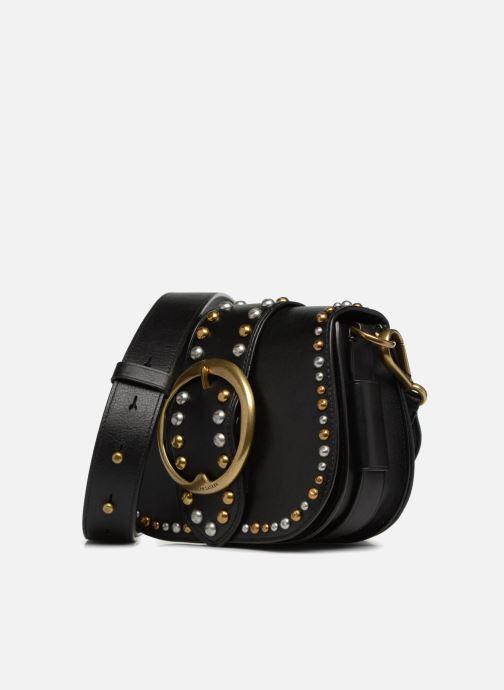 Handbags Polo Ralph Lauren LENNOX BELT SADDLE Black model view