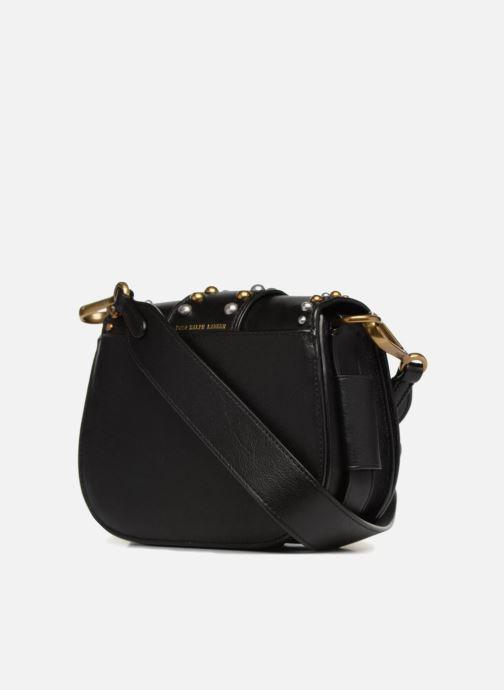 Handbags Polo Ralph Lauren LENNOX BELT SADDLE Black view from the right