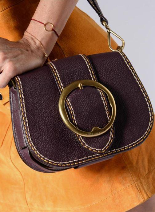 Sacs à main Polo Ralph Lauren LENNOX BELT SADDLE Noir vue bas / vue portée sac