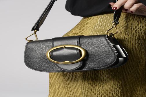 Bolsos de mano Polo Ralph Lauren LENNOX BELT SADDLE Beige vista de arriba