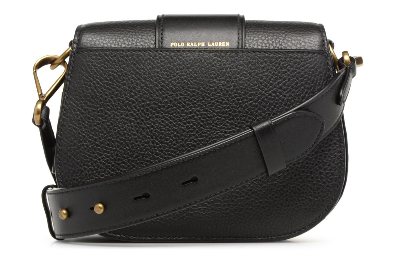 Sacs à main Polo Ralph Lauren LENNOX BELT SADDLE Noir vue face