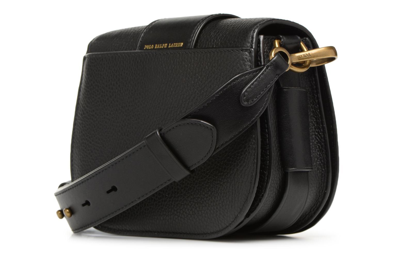 Sacs à main Polo Ralph Lauren LENNOX BELT SADDLE Noir vue droite
