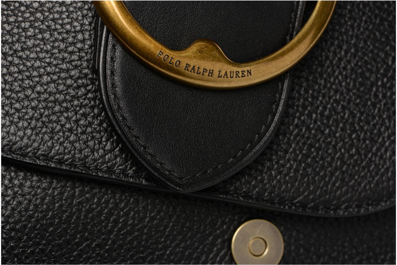 Sacs à main Polo Ralph Lauren LENNOX BELT SADDLE Noir vue gauche