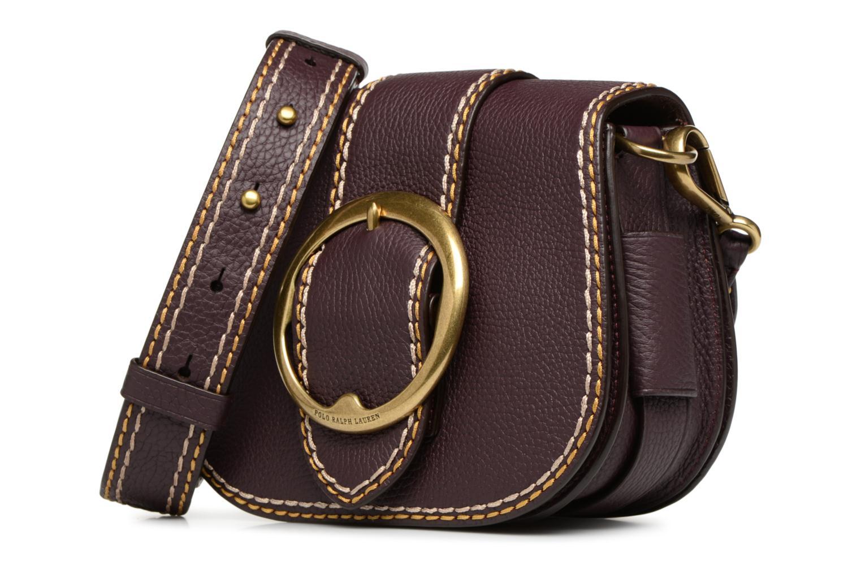 Sacs à main Polo Ralph Lauren LENNOX BELT SADDLE Bordeaux vue portées chaussures