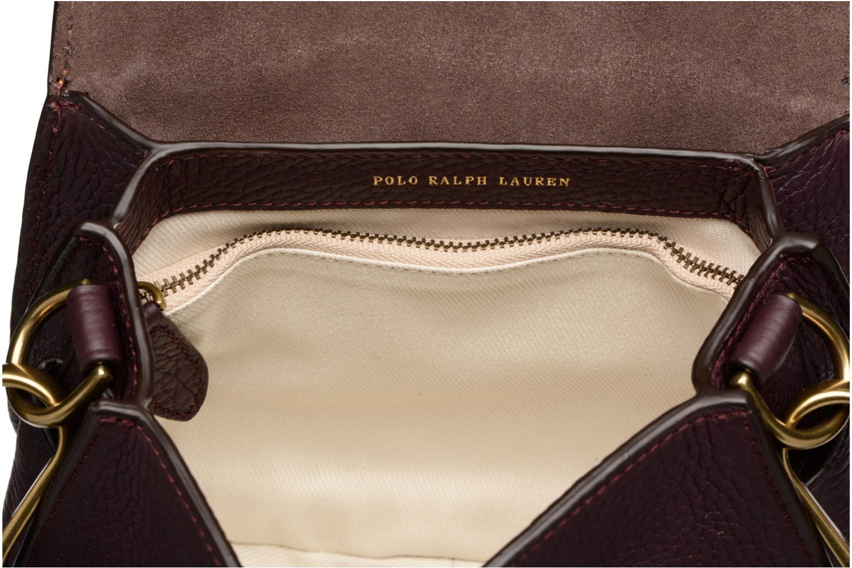 Sacs à main Polo Ralph Lauren LENNOX BELT SADDLE Bordeaux vue derrière