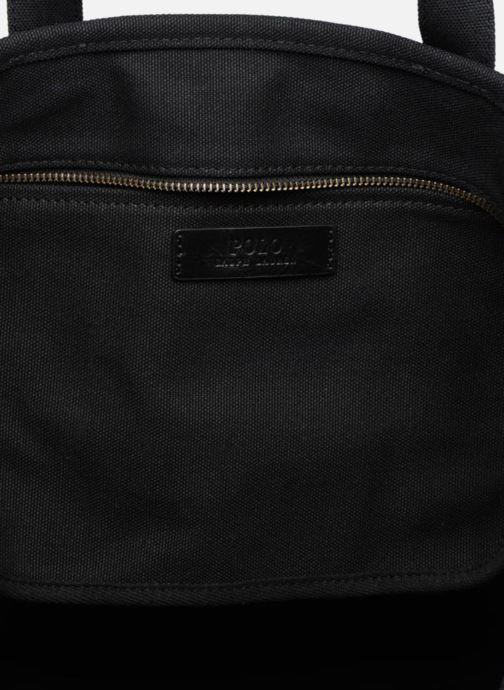 Sacs à main Polo Ralph Lauren CLASSIC CANVAS TOTE M Noir vue derrière