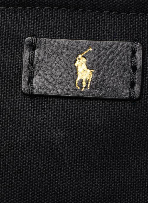 Sacs à main Polo Ralph Lauren CLASSIC CANVAS TOTE M Noir vue gauche