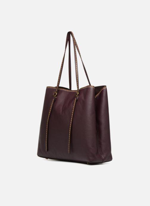 Handtassen Polo Ralph Lauren LENNOX TOTE LARGE Bordeaux rechts