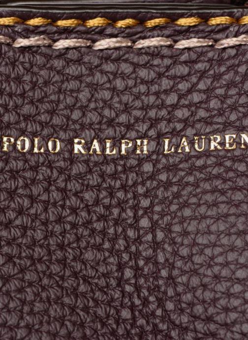 Sacs à main Polo Ralph Lauren LENNOX TOTE LARGE Bordeaux vue gauche
