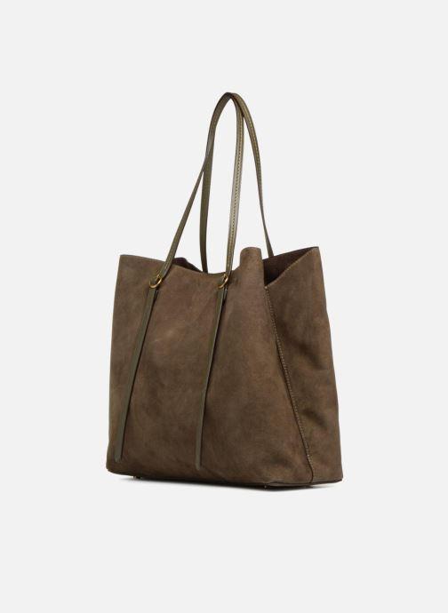 Handtaschen Polo Ralph Lauren LENNOX TOTE LARGE grün schuhe getragen