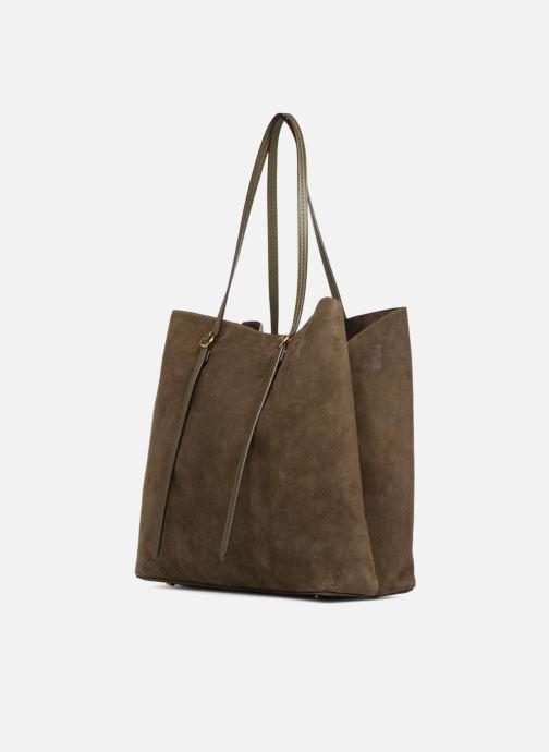 Handtaschen Polo Ralph Lauren LENNOX TOTE LARGE grün ansicht von rechts