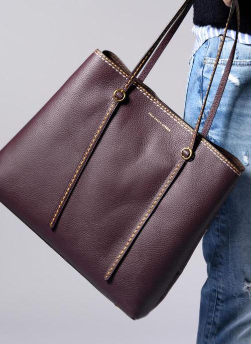 Handtaschen Polo Ralph Lauren LENNOX TOTE LARGE grün ansicht von unten / tasche getragen