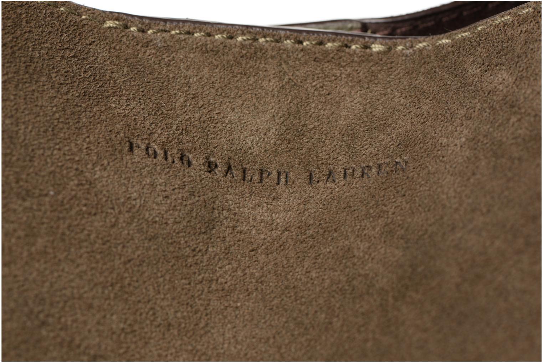 Sacs à main Polo Ralph Lauren LENNOX TOTE LARGE Vert vue gauche