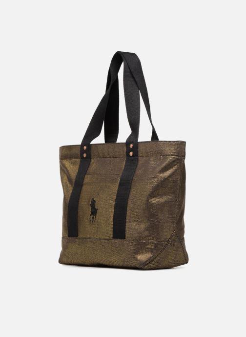 Handtassen Polo Ralph Lauren PP TOTE CANVAS Goud en brons model
