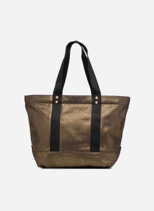 Handbags Polo Ralph Lauren PP TOTE CANVAS Bronze and Gold front view