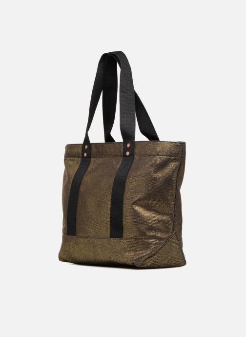 Handtassen Polo Ralph Lauren PP TOTE CANVAS Goud en brons rechts