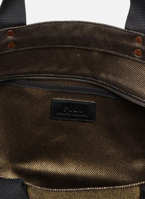 Handbags Polo Ralph Lauren PP TOTE CANVAS Bronze and Gold back view