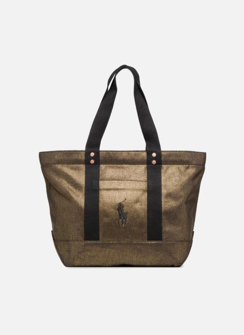 Handbags Polo Ralph Lauren PP TOTE CANVAS Bronze and Gold detailed view/ Pair view