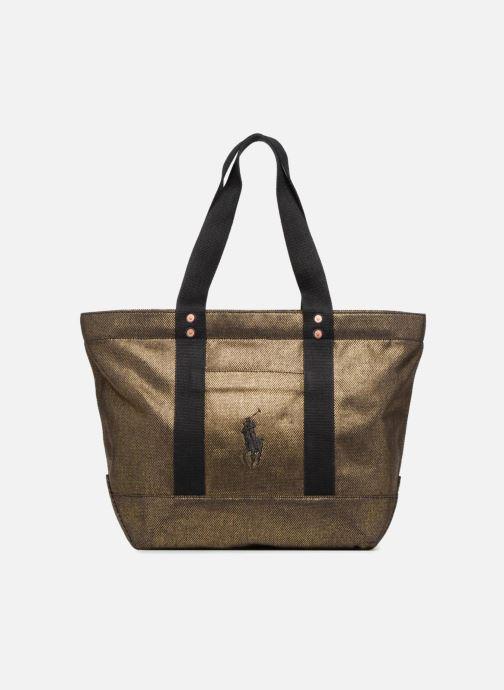 Sacs à main Polo Ralph Lauren PP TOTE CANVAS Or et bronze vue détail/paire