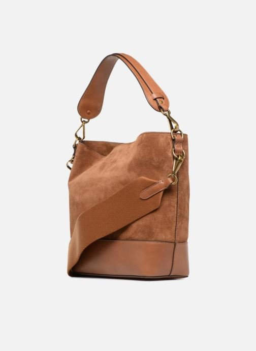 Sacs à main Polo Ralph Lauren SULLIVAN SMALL BUCKET Marron vue droite