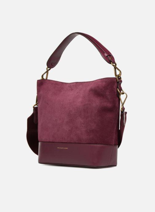 Handbags Polo Ralph Lauren SULLIVAN SMALL BUCKET Burgundy model view