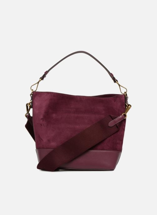 Sacs à main Polo Ralph Lauren SULLIVAN SMALL BUCKET Bordeaux vue face