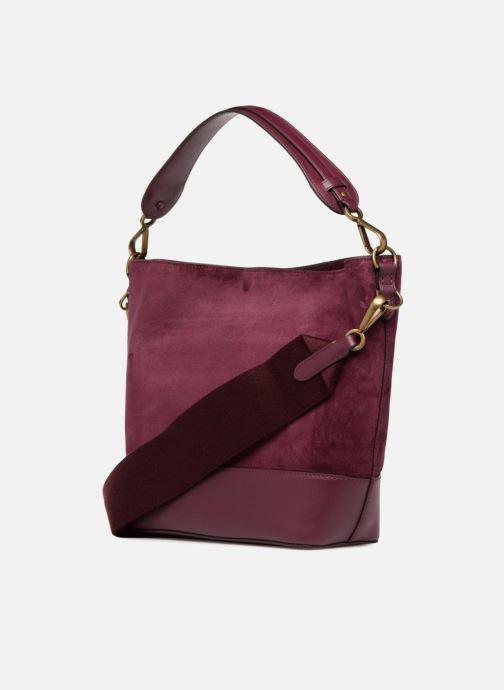 Handbags Polo Ralph Lauren SULLIVAN SMALL BUCKET Burgundy view from the right