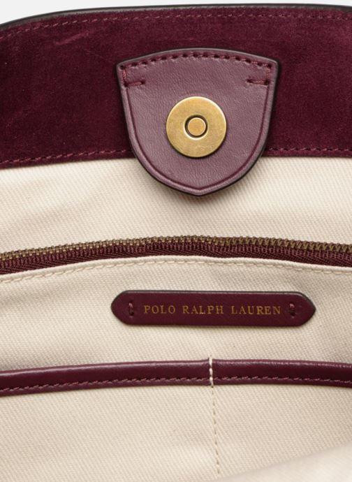 Handbags Polo Ralph Lauren SULLIVAN SMALL BUCKET Burgundy back view