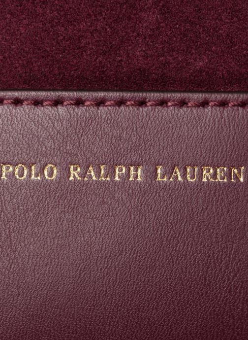 Sacs à main Polo Ralph Lauren SULLIVAN SMALL BUCKET Bordeaux vue gauche