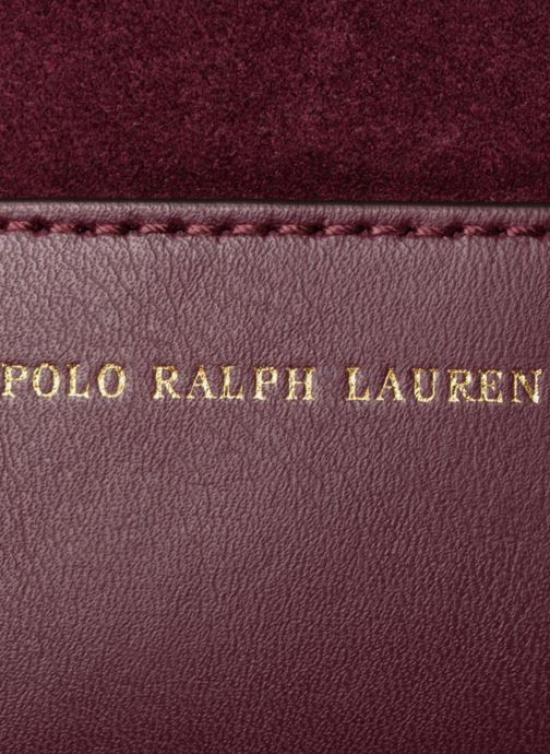 Sacs à main Polo Ralph Lauren SULLIVAN SMALL BUCKET Bordeaux vue gauche
