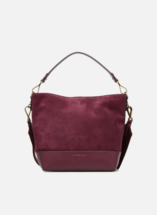 Sacs à main Polo Ralph Lauren SULLIVAN SMALL BUCKET Bordeaux vue détail/paire