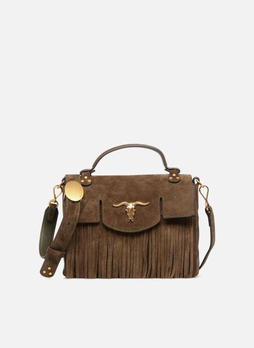 Handbags Polo Ralph Lauren MONTANA SMALL SCHOOLY Green detailed view/ Pair view