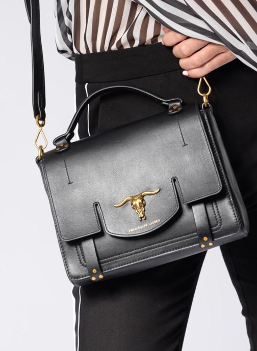 7c31b14fb9 Handbags Polo Ralph Lauren MONTANA SMALL SCHOOLY Black view from above