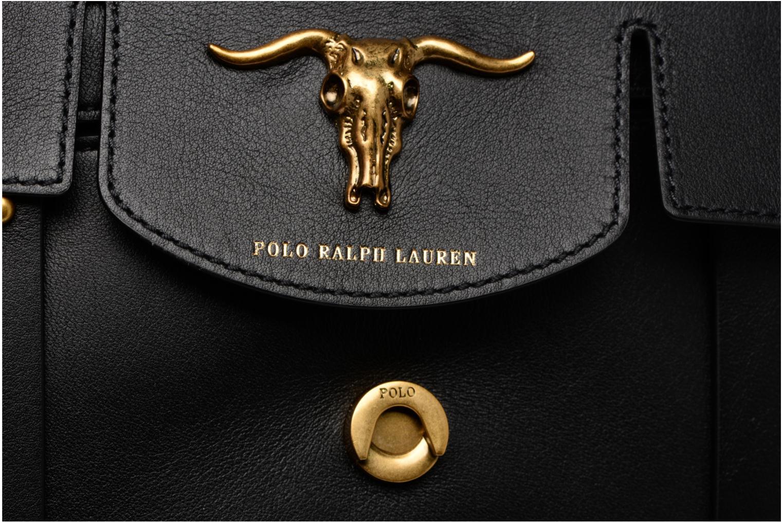 Sacs à main Polo Ralph Lauren MONTANA SMALL SCHOOLY Noir vue gauche