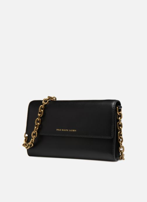 Handbags Polo Ralph Lauren CORE WALLET CHAIN CLUTCH Black model view