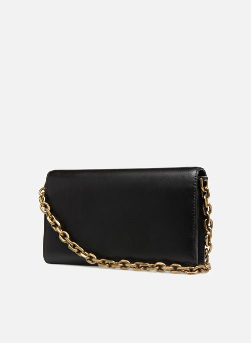 Handbags Polo Ralph Lauren CORE WALLET CHAIN CLUTCH Black view from the right
