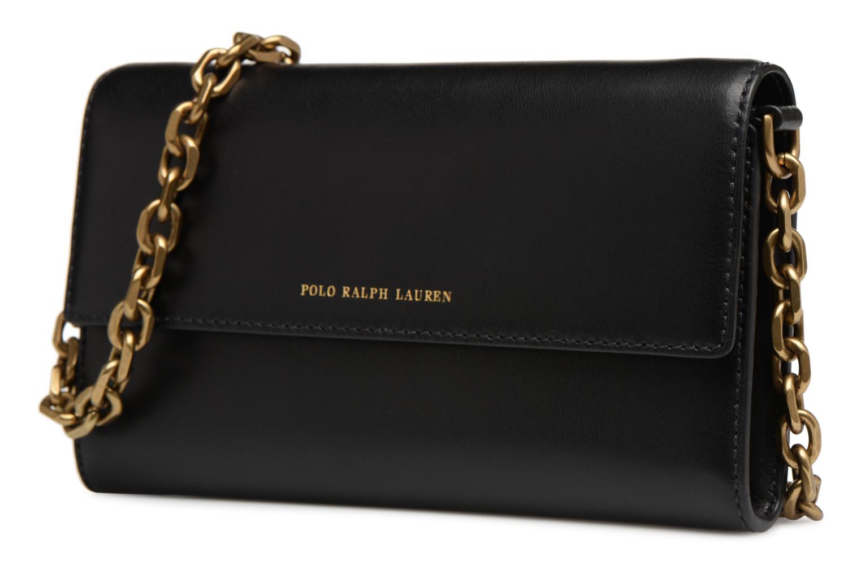Sacs à main Polo Ralph Lauren CORE WALLET CHAIN CLUTCH Noir vue portées chaussures