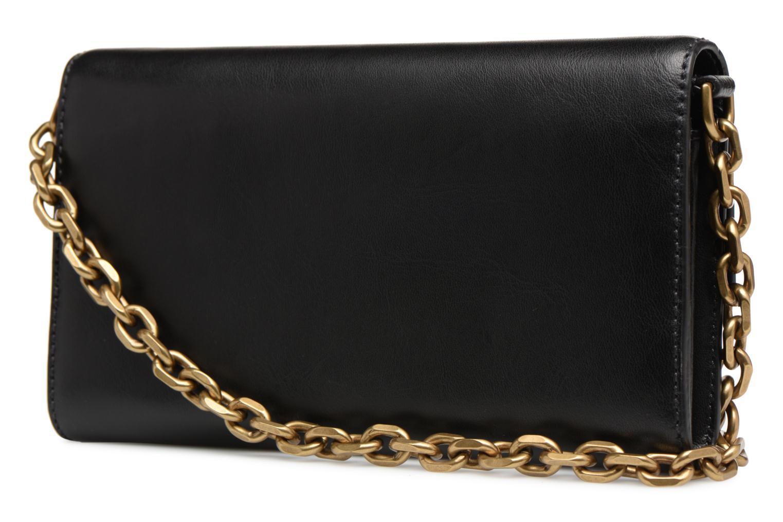 Sacs à main Polo Ralph Lauren CORE WALLET CHAIN CLUTCH Noir vue droite